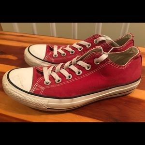 Converse All Stars Ox Chuck Taylor RED Dr. Who 8